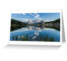 Mirror Lake - Italian Dolomites Greeting Card