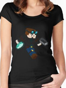 Diamonds Minecraft Women's Fitted Scoop T-Shirt