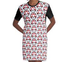8-Bit Big 1up Mushroom <3 Graphic T-Shirt Dress