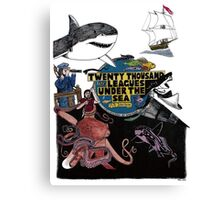"""20,000 Leagues under the Sea"" The Graphic Novel  Canvas Print"