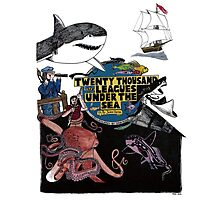 """20,000 Leagues under the Sea"" The Graphic Novel  Photographic Print"