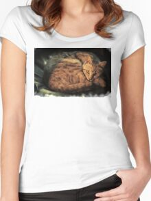 the cat Women's Fitted Scoop T-Shirt