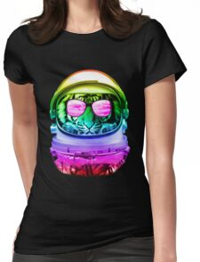 Cool Space Tiger  Womens Fitted T-Shirt