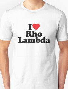 I Heart Love Rho Lambda T-Shirt