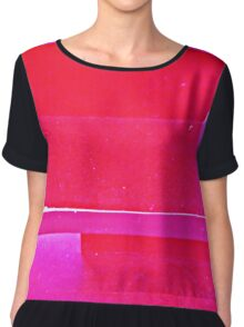 pink abstract Chiffon Top