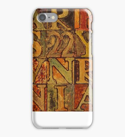Letters And Numbers iPhone Case/Skin