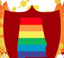 alabama rainbow crest Sticker