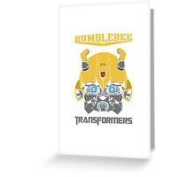 Bumblebee Transformers Greeting Card