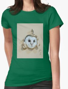Bird Painting 2 Womens Fitted T-Shirt
