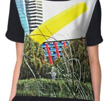 Melbourne bush and city Chiffon Top