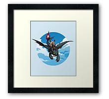 Toothless Targaryen Blue Framed Print