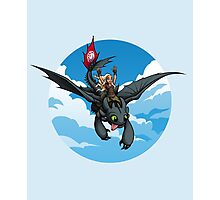 Toothless Targaryen Blue Photographic Print