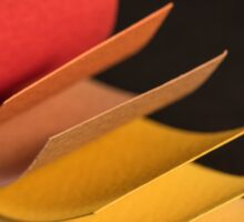 Colourful strips of cardboard as texture and background  Sticker