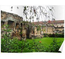 Garden around the ruins in Guatemala, 2009 Poster