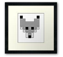 Cubic Style 8-Bit Fox face Framed Print