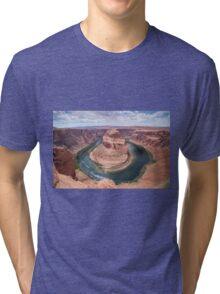 Horseshoe bend - USA Tri-blend T-Shirt