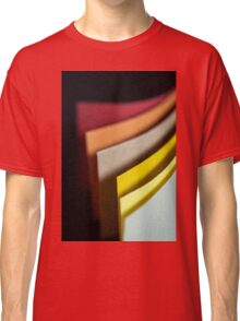 Colourful strips of cardboard as texture and background  Classic T-Shirt