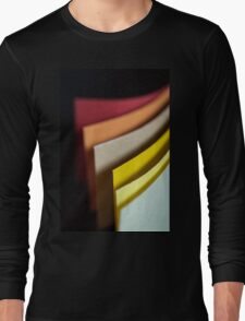 Colourful strips of cardboard as texture and background  Long Sleeve T-Shirt