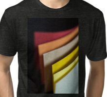 Colourful strips of cardboard as texture and background  Tri-blend T-Shirt
