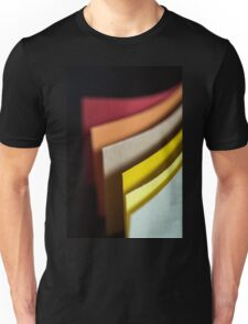 Colourful strips of cardboard as texture and background  Unisex T-Shirt