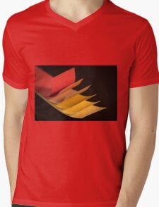 Colourful strips of cardboard as texture and background  Mens V-Neck T-Shirt