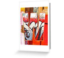 Urban Alphabet W Greeting Card