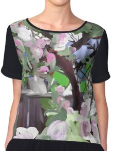 Apple Blossoms Chiffon Top