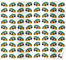 """""""Paradise of parrots"""" - Pattern Poster"""