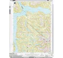 USGS TOPO Map Alaska AK Bradfield Canal A-6 354710 2000 63360 iPad Case/Skin