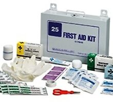 First Aid Kit with Steel Case, 25 person by xsmedical