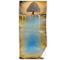 """""""Waterfall"""" Watercolor on Canvas Poster"""