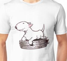 Bull Terrier On Board Funny Unisex T-Shirt