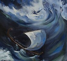 Odysseus and Poseidon by Faolain