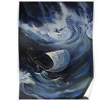 Odysseus and Poseidon Poster