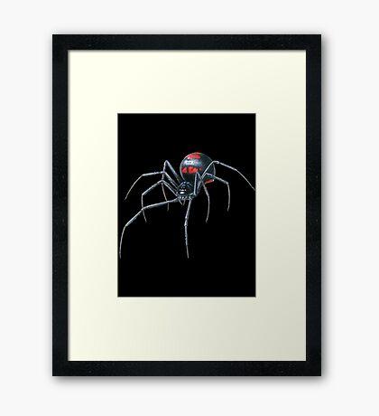 Black Widow Spider Cool Framed Print