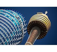 JP Morgan and Sydney Tower Photographic Print