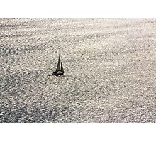 Sailing on a shimmering sea Photographic Print