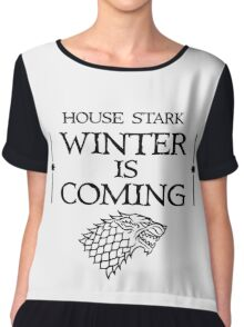 House Stark   Winter is Coming Chiffon Top