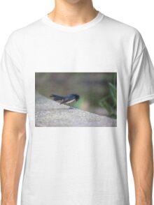 Bowing Willy Wagtail at Melbourne Royal Botanic Gardens Classic T-Shirt
