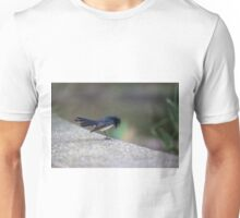 Bowing Willy Wagtail at Melbourne Royal Botanic Gardens Unisex T-Shirt