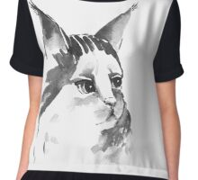 Beautiful cat Chiffon Top