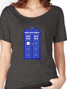 8-Bit Doctor Who Police Box. The TARDIS! Women's Relaxed Fit T-Shirt