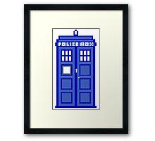 8-Bit Doctor Who Police Box. The TARDIS! Framed Print