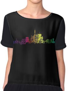 Toronto Skyline Gradient Chiffon Top