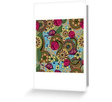 floral pattern, floral ornament Greeting Card