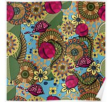 floral pattern, floral ornament Poster
