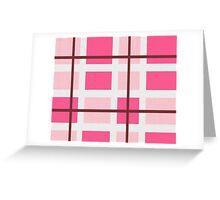 Pattern Plaid Texture Greeting Card