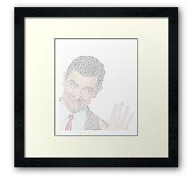 Mr. Bean's Biography Framed Print
