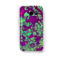 Floral green Samsung Galaxy Case/Skin
