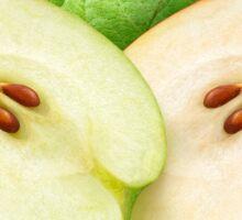 Two apple halves Sticker